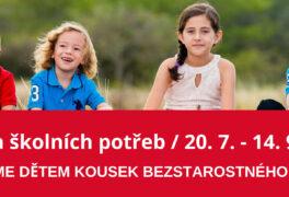 Žďárská charita pořádá sbírku školních potřeb pro děti v nouzi